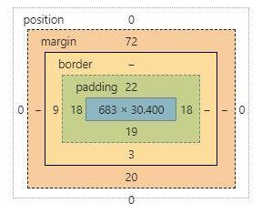 対応するCSSの余白デザイン情報