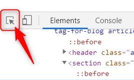 ステップ3:Select on elementボタンをクリック