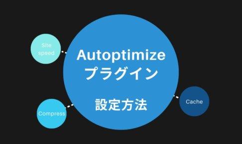 Autoptimizeプラグインの設定方法【注意点あり】